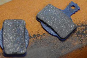 brake pad after cleaning